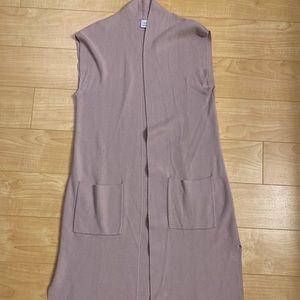 Twik sleeveless blush cardigan